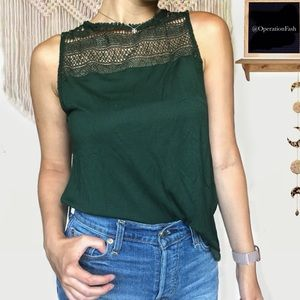 Hollister Forest Green Tank Top